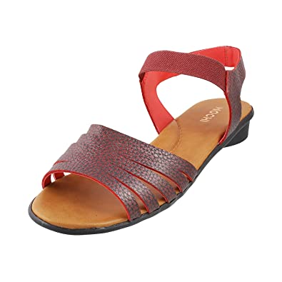 6bf990ef51f6a Mochi Women RED Synthetic Sandals (Size EURO38 UK5) 33-9982-18. Roll over  image to zoom in