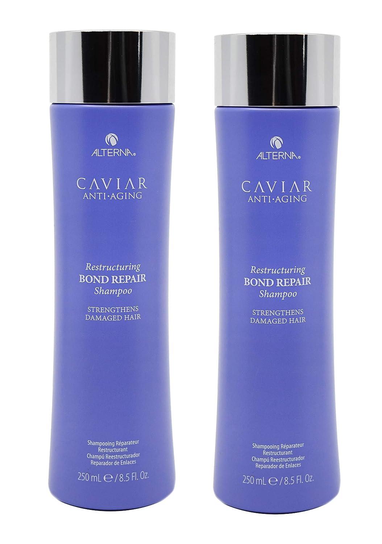 e89072dccae Amazon.com : (2 Pack) 8.5 Fl Oz Alterna Caviar Anti-Aging Restructuring Bond  Repair Shampoo : Beauty