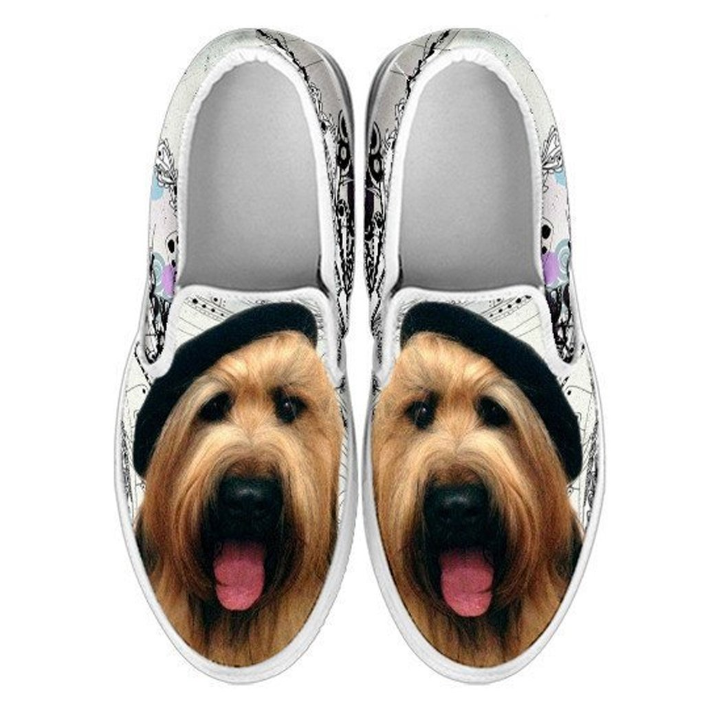 , Briard Dog EU32 Kids Slip ONS-Lovely Dogs Print Slip-ONS Shoes for Kids 1 Youth Choose Your Pet Breed