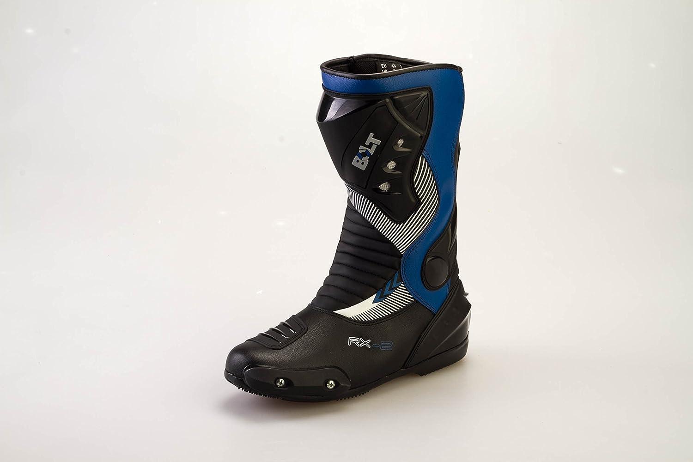 43 EU//9 UK Bolt S12 Gli Sport Protezione Moto da Corsa Slider Impermeabile Blu Stivali