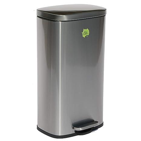 Made for us 30 litros Acero inoxidable Cubo de basura Cubo ...