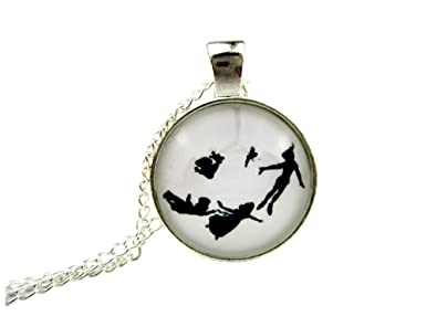 Amazon peter pan wendy and tinkerbell pendant necklace the peter pan wendy and tinkerbell pendant necklace the lost boys are there too aloadofball Gallery