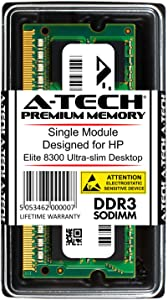 A-Tech 8GB RAM for HP Elite 8300 Ultra-Slim | DDR3 1600 SODIMM PC3-12800 1.5V 204-Pin Memory Upgrade Module