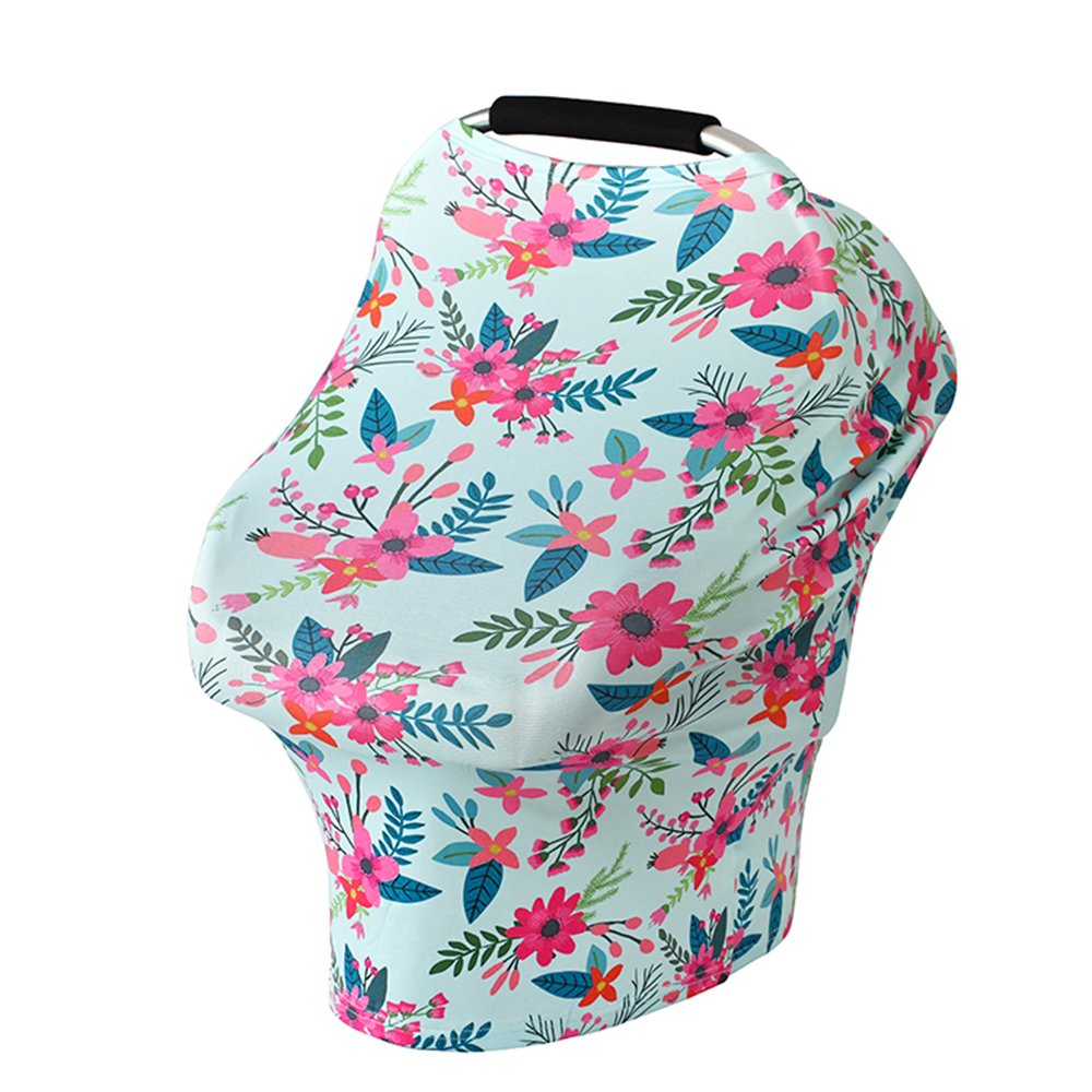 Baby Nursing Cover, Bestxun Car Seat Cover Breastfeeding Cover Car Seat Canopy Shopping Cart Cover (CH51)