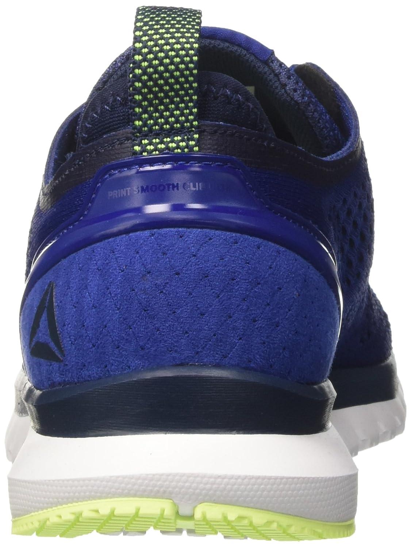 Reebok Print Smooth Clip Ultk, Zapatillas de Running para Hombre, Azul (Azul/(Deep Cobalt/Coll Navy/Electric Flash/Wht) 000), 42.5 EU