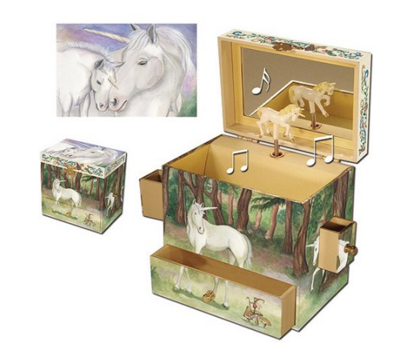 Amazoncom Childs Unicorn Musical Jewelry Box Toys Games