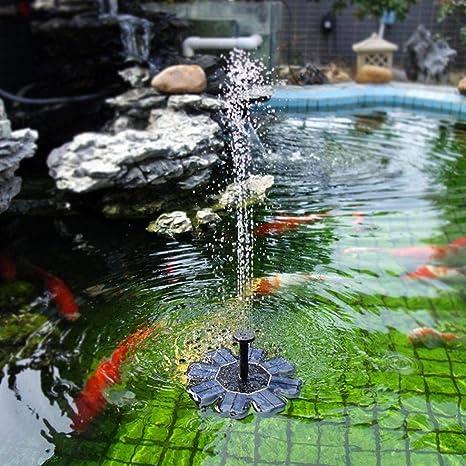 Sytauuan - Bomba de Agua con energía Solar, Panel Flotante para jardín, Piscina, Estanque, Kit de riego, Color Negro: Amazon.es: Jardín