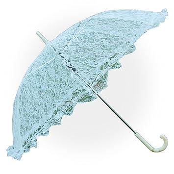 Aircee TM color blanco/Beige doble capa sombrilla de encaje ...