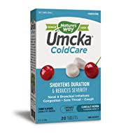 Nature's Way Umcka ColdCare Shortens Duration & Reduces Severity, Cherry Flavored, 20 Chewables