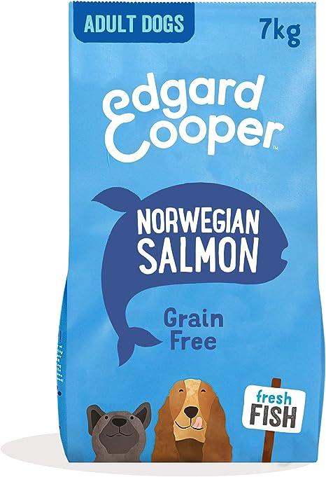 Edgard & Cooper Pienso para Perros Adultos Sin Cereales Comida Seca Natural 7kg Salmon Fresco hipoalergenico, Alimentación Sana Sabrosa y equilibrada, ...