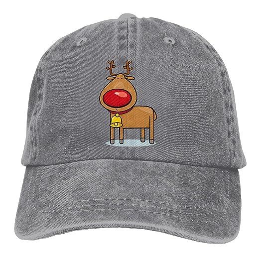ed644651808 Unisex Cartoon Christmas Reindeer Jeanet Baseball Cap Adjustable Glacier Cap  For Men Or Women