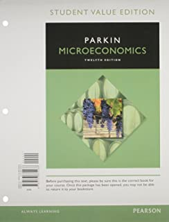 Microeconomics 12th edition pearson series in economics microeconomics student value edition plus mylab economics with pearson etext access card package fandeluxe