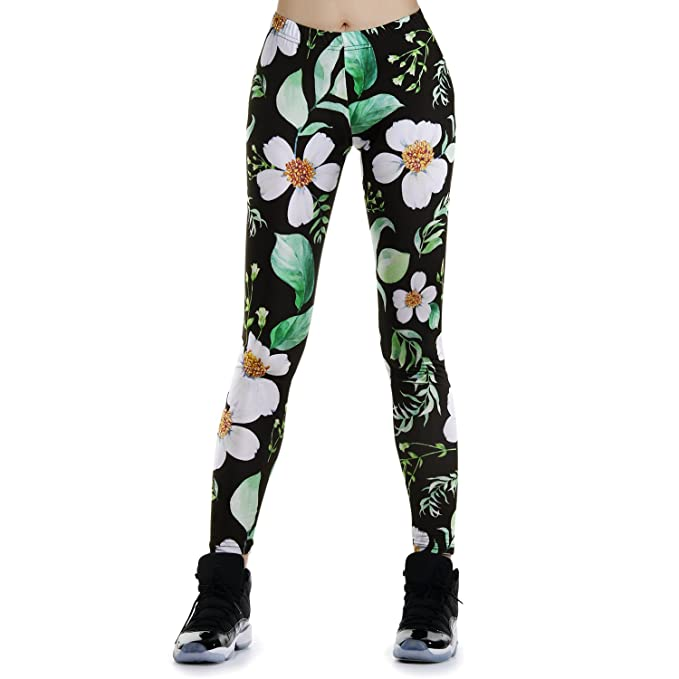 Amazon.com: JewelryWe Womens Workout Leggings Running Pants ...