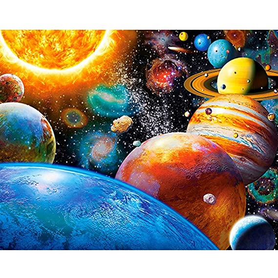 Rameng- Diamante Bordado Espacio de Planeta Diamante Pintura Kits ...