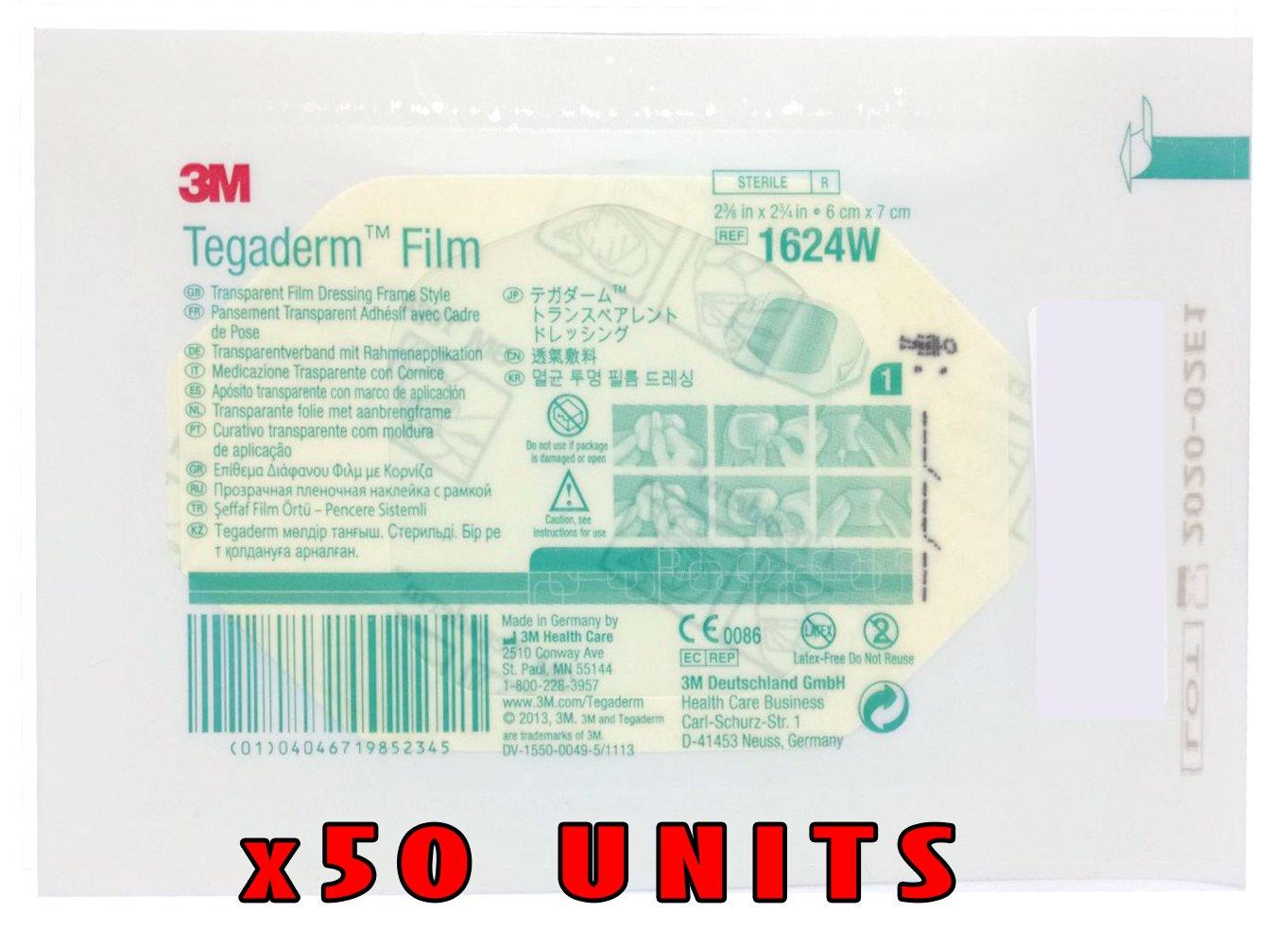 Amazon Pack Of 50 3m Tegaderm 2 38 X 2 34 1624w Health