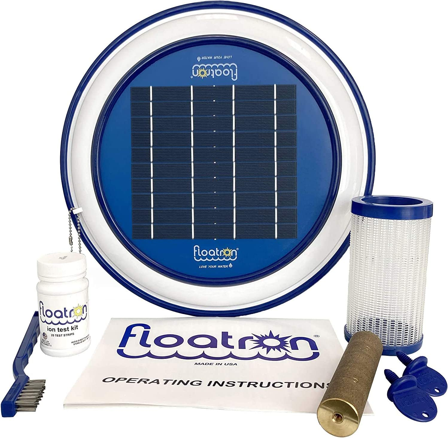 floatron Original Solar Powered Water Purifier/Ionizer - Naturally Mineralized Pool Water