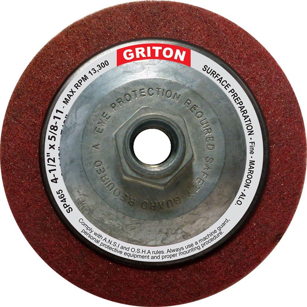 Griton SP465 Hub Aluminum Oxide Fine Surface Preparation Wheel, 4-1/2'' x 5/8''-11'' (Pack of 10)