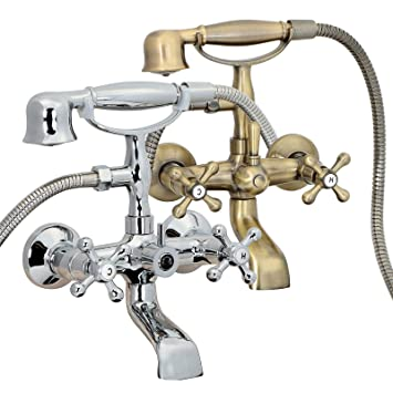 Freuer Vasca Collection Classic Clawfoot Tub Faucet Wall Mount