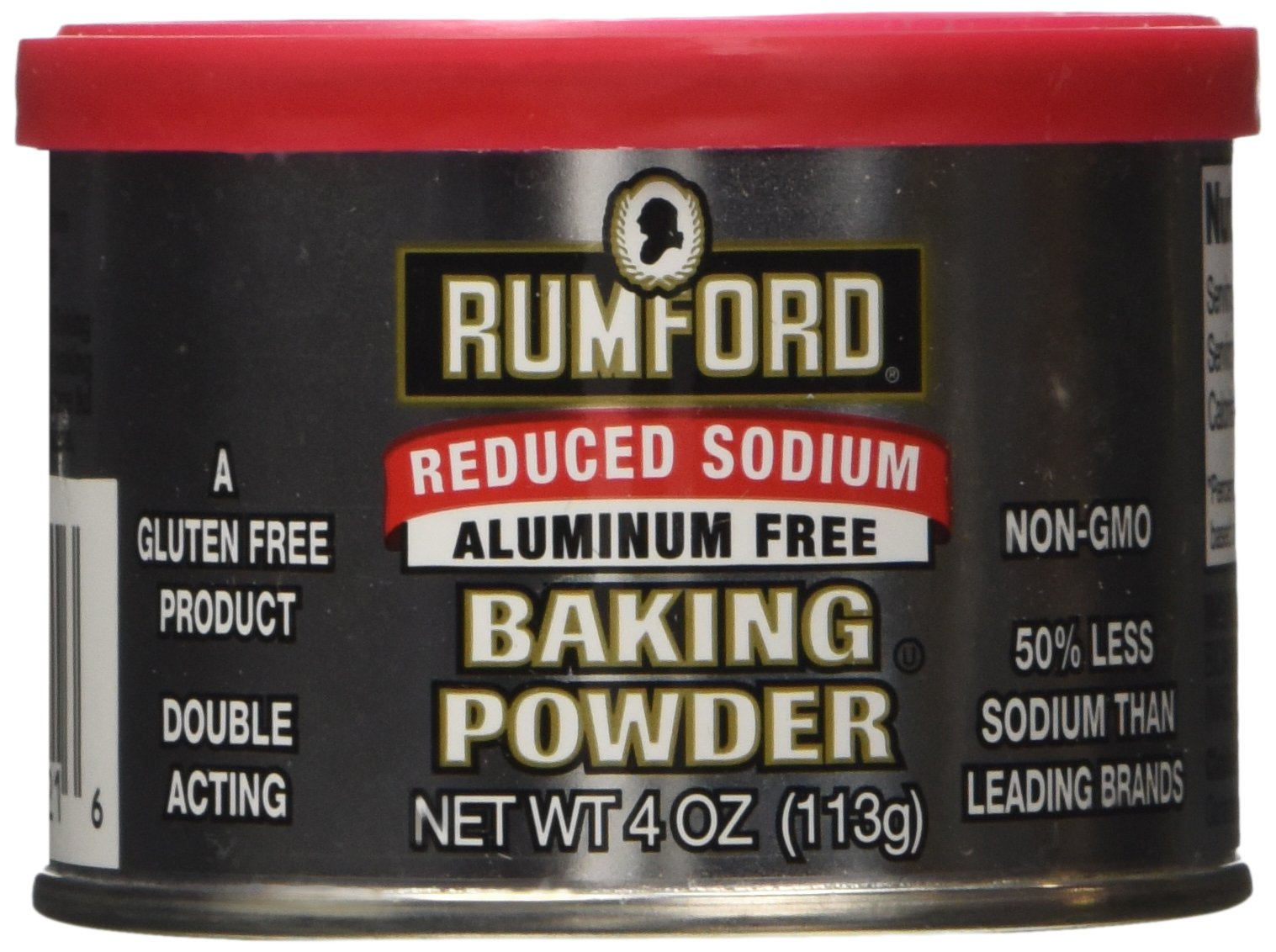 Rumford Baking Powder Reduced Sodium 4 Oz, Pack of 2