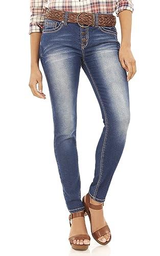 WallFlower Exposed Button Legendary Skinny Jeans