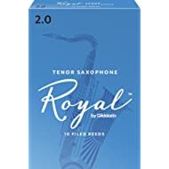 Royal by D'Addario RKB1020 Tenor Sax Reeds, Strength 2.0, 10-pack
