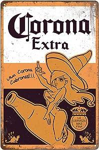 "Tin Signs Retro Vintage, Corona Extra Beer, Home Bar Man Cave Diner Garage Man Cave Decor, 8""x12""/20x30cm"