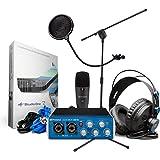 PreSonus AudioBox 96 Studio Recording Package BONUS PAK w/ Mic Stand and Pop Filter