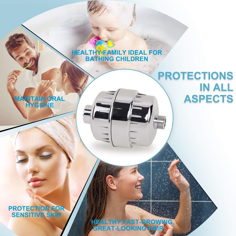Pommeau de douche 15 /étapes avec cartouche universelle multi-/étapes pour filtre de douche de rechange