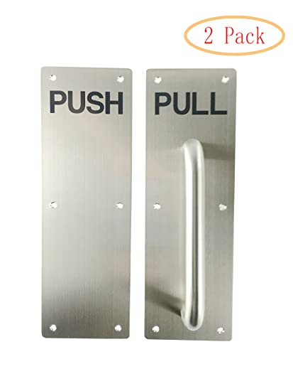 Amazon.com: VRSS 304 Stainless Steel Commercial Push Pull Door ...