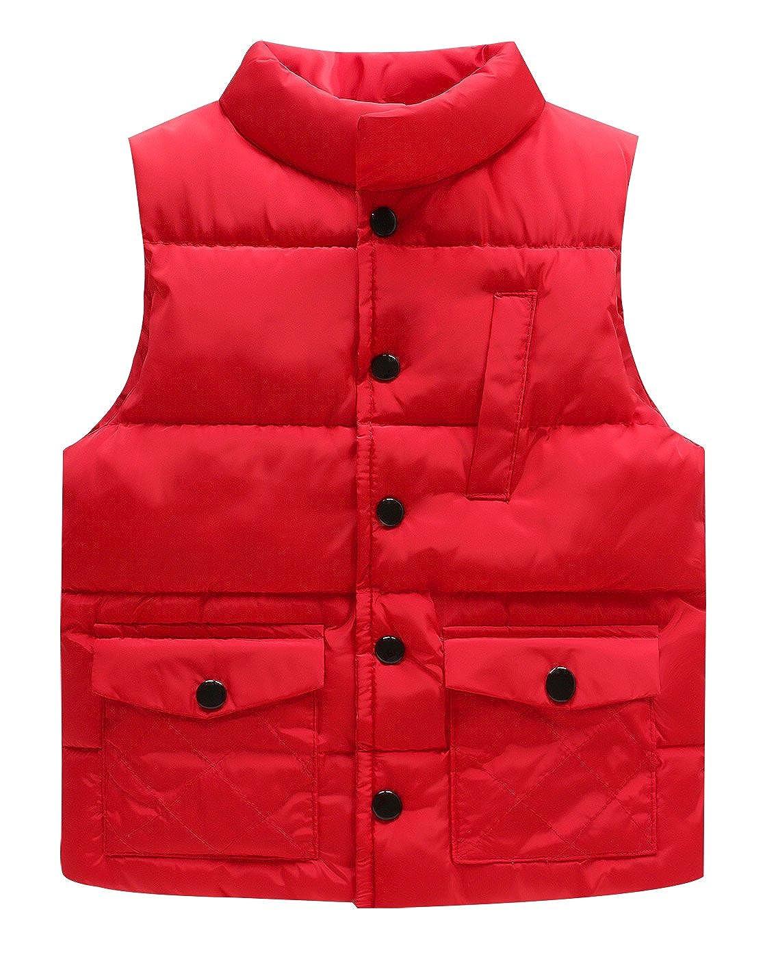 LUXING Kids Waterproof Down Vest Baby Lightweight Soft Polyester Waistcoat Outwear