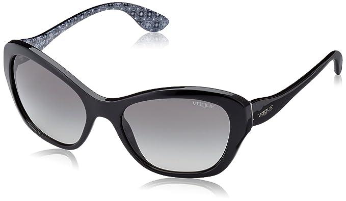 c68bfb5657d Vogue Damen Sonnenbrille VO2918S W44/11, Schwarz (Onyx, One Size  (Herstellergröße: 56): Amazon.de: Bekleidung