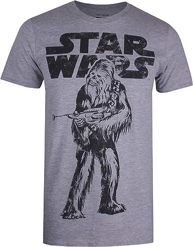 Star Wars Chewie Logo Camiseta para Hombre: Amazon.es: Ropa y accesorios