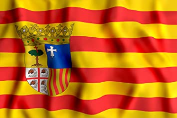 Oedim Bandera de La Comunidad de Aragón 85x150cm | Reforzada y con Pespuntes| Bandera de La Comunidad de Aragón con 2 Ojales Metálicos: Amazon.es: Hogar