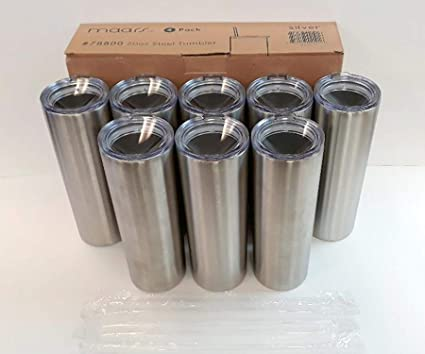 517fabcd7e8 Image Unavailable. Image not available for. Color: Maars 20 oz. Skinny  Steel 8 Pack Double Wall Stainless Tumbler ...