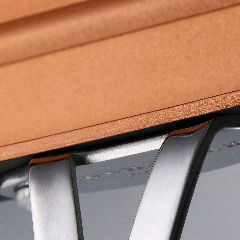 COOKSMARK Copper Pan 26cm Aluminium Grillpfanne Antihaft-beschichtung Sp/ülmaschinenfest Backofen Sicher Tiefe Bratpfanne Steakpfanne Kupferpfanne mit Edelstahlgriff