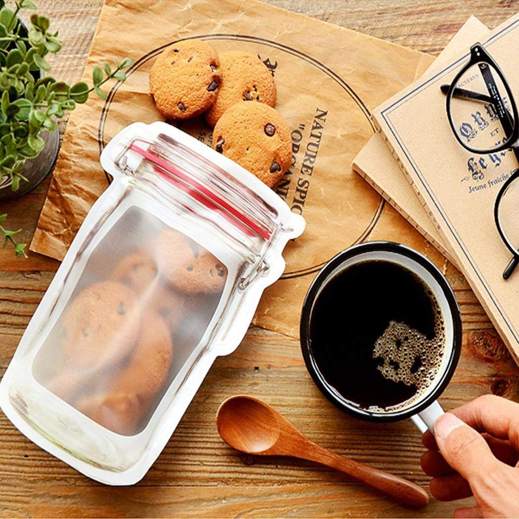 Suines 10pcs Portable Seal Transparent Snacks Moisture-proof Food Storage Bag Decorating & Pastry Bags by Suines (Image #5)