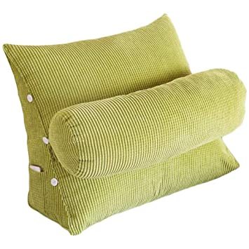 Amazon.com: Almohada de lectura lavable almohada triangular ...