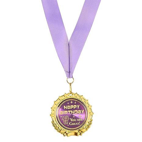 Gold Medal U2013 Happy Birthday U2013 Medaglia Premio Medaglie U2013 Medaglie U2013 In Vero  Metallo,