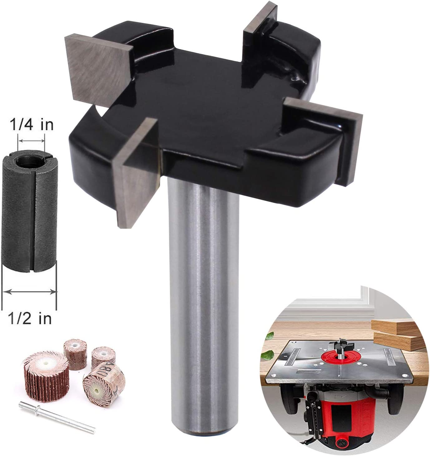 12.7 Mm Surface Planing Bottom Clean Wood Milling Woodwork Router Cutter UP
