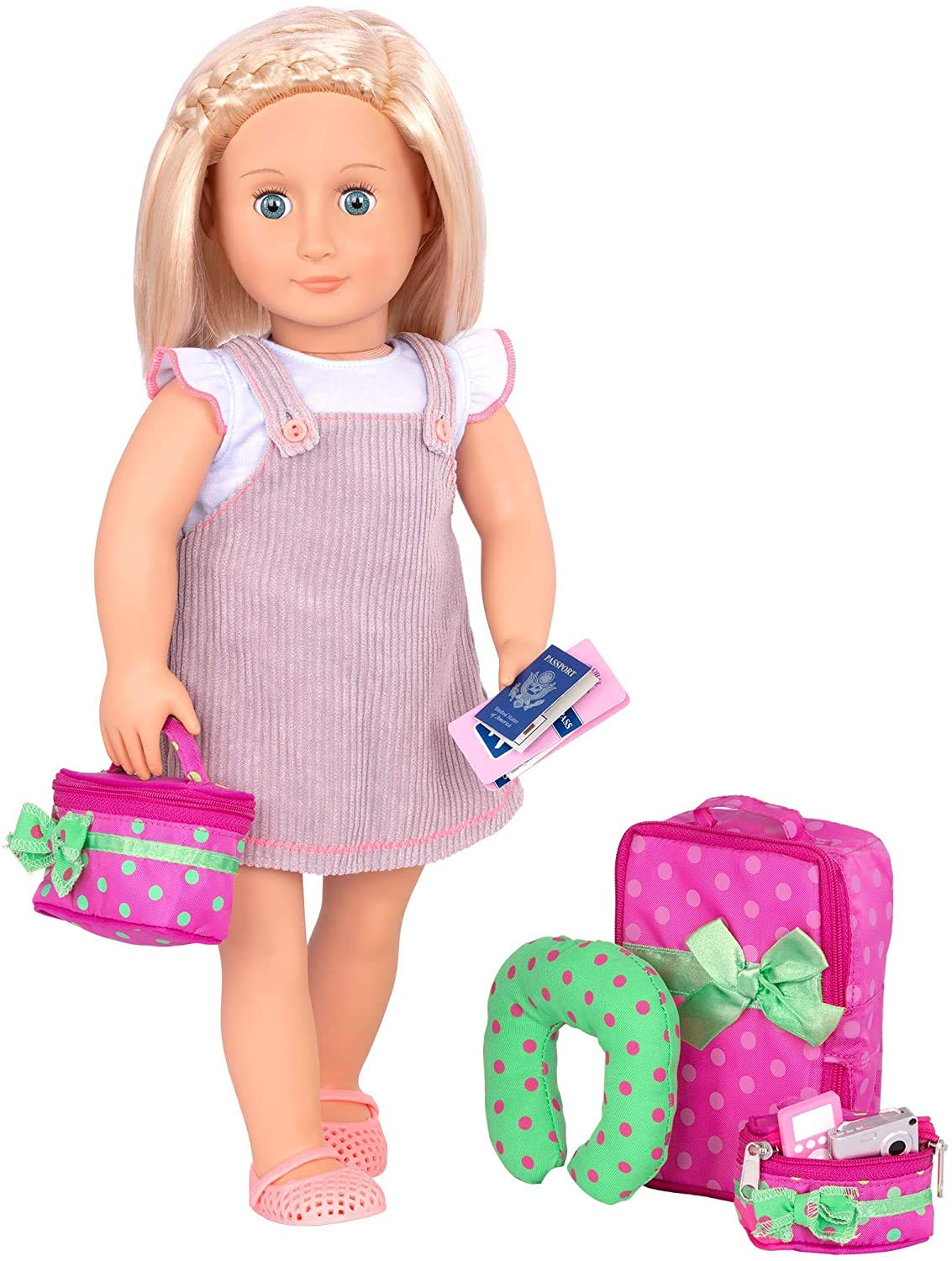 Our Generation Dolls Doll Luggage and Travel Set, 18-in