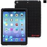 "iPad Air and New iPad 2017 9.7"" Case, Snugg Black Silicone Case [Non-Slip Material] Protective Rubber Back Case Cover Apple iPad Air and New iPad 2017 9.7"""