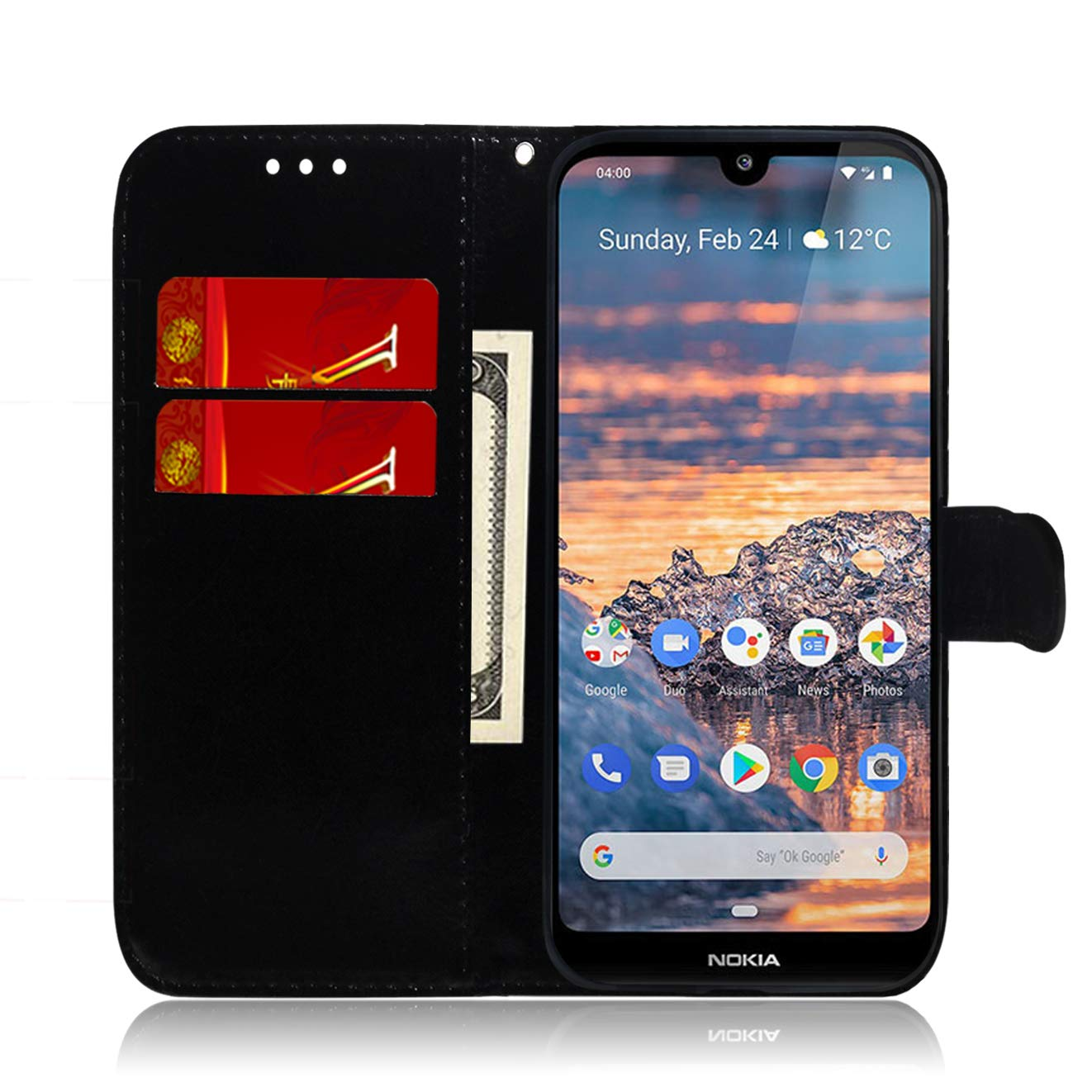 LOTXI150766 L5 Shockproof Flip Case Cover for Nokia4.2 Lomogo Leather Wallet Case for Nokia 4.2 with Stand Feature Card Holder Magnetic Closure