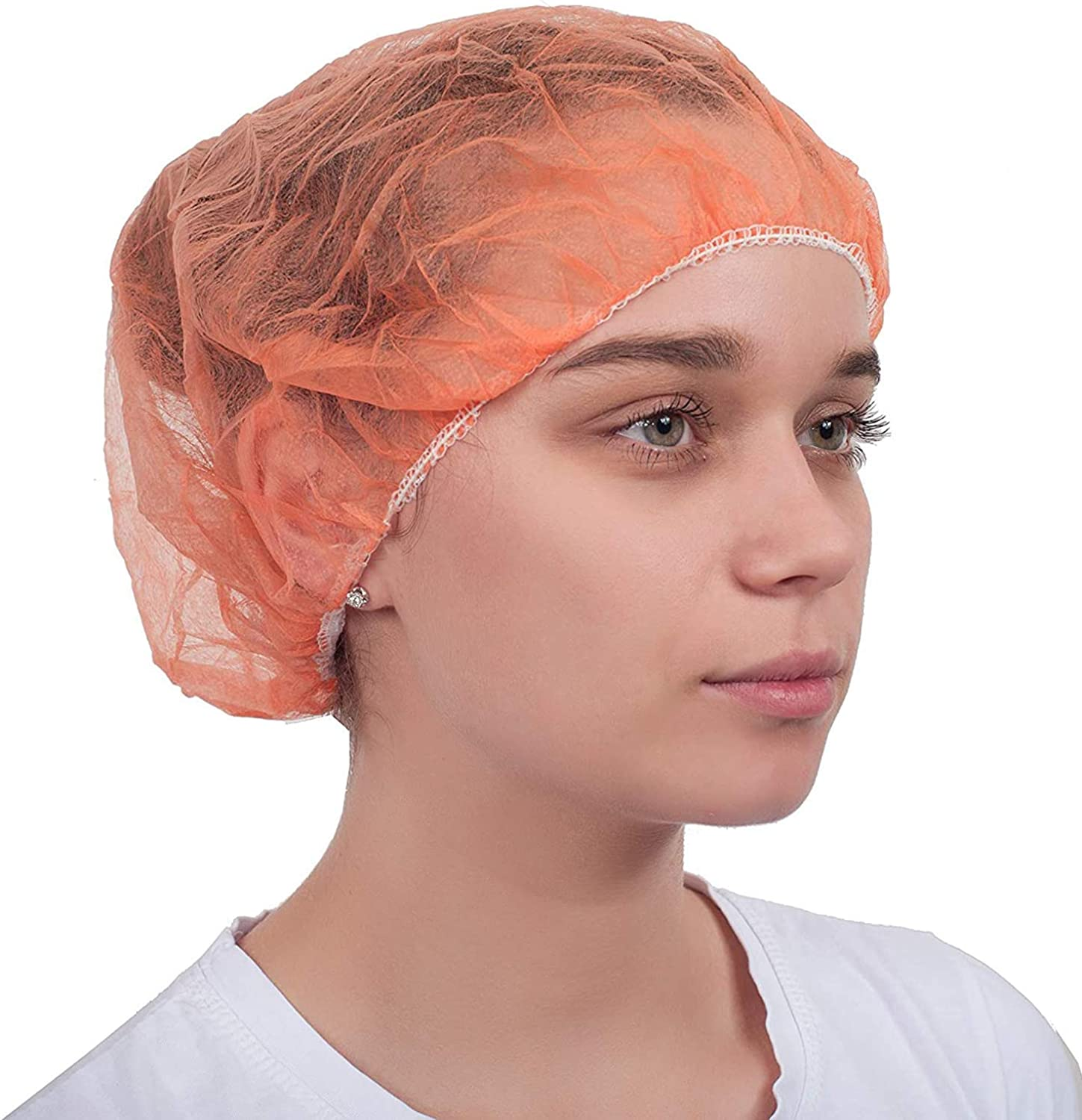 Amazing Bouffant Caps with Elastic Stretch Band. Disposable Protective Hair Hats
