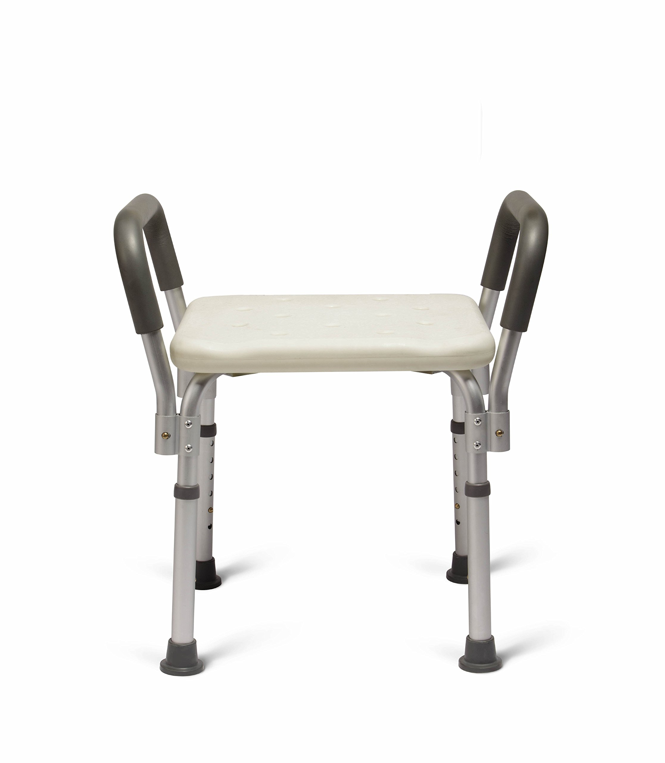 Medline Bath Bench Shower Seat with Padded Armrests, Great for Bathtubs, Supports up to 350 lbs