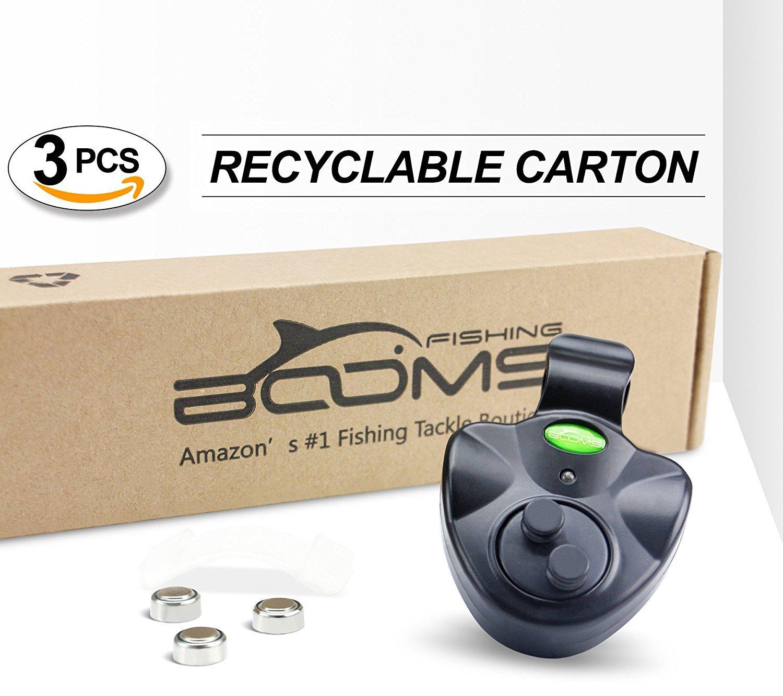 Booms Ca/ña de Pescar con Alarma electr/ónica para Pescar con Sirena Fuerte