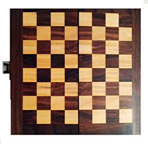 Maithil Art Classic Folding Wooden Chess Board with Pieces Travel Indoor Game