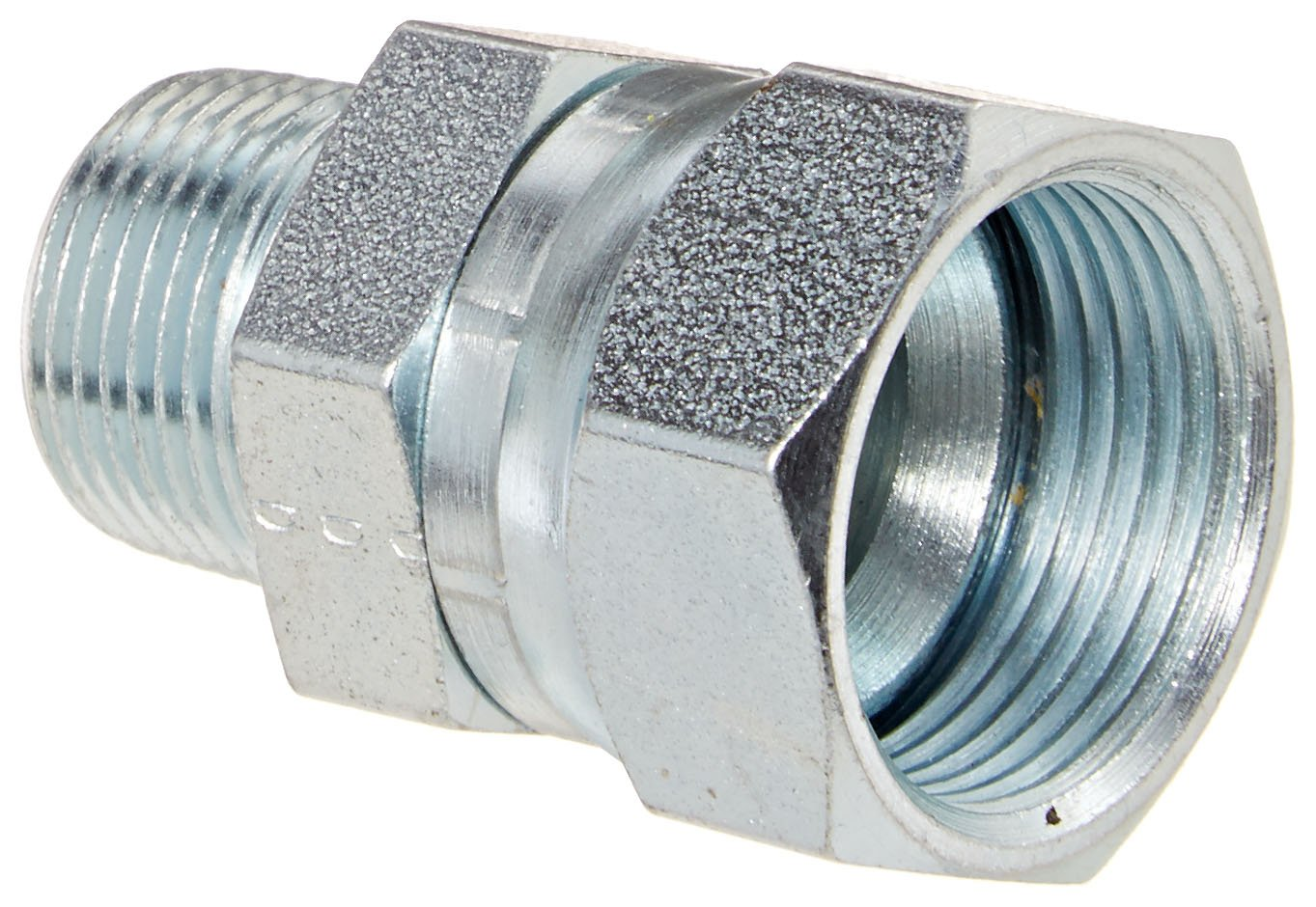 Eaton Weatherhead 9100X16X12 Carbon Steel SAE 37 Degree (JIC) Flare-Twin Fitting, Swivel, Adapter, 3/4'' NPT Male x 1'' JIC Female