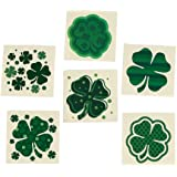 Fun Express - Shamrock Patterned Tattoos for St. Patrick's Day - Apparel Accessories - Temporary Tattoos - Regular Tattoos -