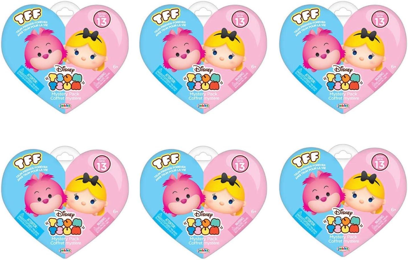 Disney Mystery Pack Mini Figures Series 11 Tsum Tsum Bundle of 6