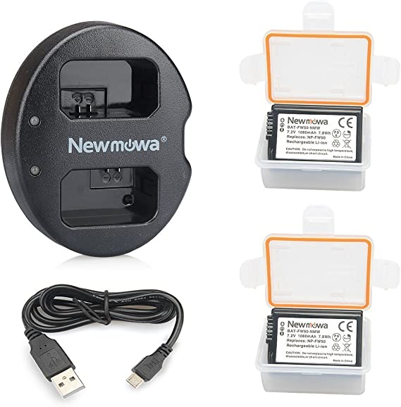 Newmowa Dual USB Charger for Sony NP